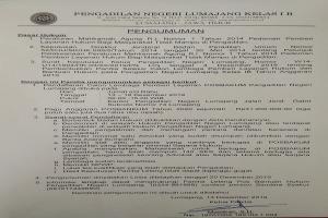 PENGUMUMAN Pendaftaran Lembaga POSBAKUM
