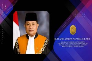 SELAMAT Dr. H. Andi Samsan Nganro, S.H,.M.H Sebagai Wakil Ketua Mahkamah Agung RI Bidang Yudisial